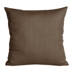 Howard Elliott - Sterling Chocolate 20 x 20 Pillow - Change up color themes or add pop to a simple sofa or bedding display by piling up the pillows in a multitude of colors, textures and patterns. This Sterling Pillow features a Linen-Like texture in a rich chocolate brown.