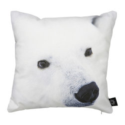 By Nord Copenhagen - Baby Polar Bear Snout Kids Cushion - A baby bear really close up! An adorable kids cushion with a digital print of a Baby Polar Bear Snout in By Nord's recognized cotton canvas quality fitted with a hypoallergenic fiber cushion.
