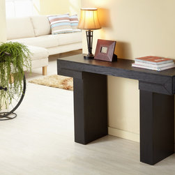 Furniture of America - Furniture of America Tiffy-Tee Black Finish Sofa Table - Add a modern touch to your space with this sofa table. Sturdy rectangular legs highlight this classic, black-finished table.