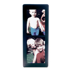 """Lawrence Frames - Black Wood 5x7 Multi Double Vertical Picture Frame - Black wood 5"""" x 7"""" double. Comes with quality easel backing for vertical or horizontal tabletop display, and hanger for vertical or horizontal wall mounting. Comes individually boxed."""