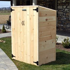 "RSI Potting & Storage Shed - Compact easy to assemble and proudly made in the U.S.A. the RSI Potting & Storage Shed is an excellent space for storing gardening tools or for use as a potting shed. Hand made by Amish craftsmen this shed is assembled with only US grown and kiln dried solid pine that locks into place via a tongue and groove system. This method of construction keeps it durable and locks out animals and the elements. A natural pine finish can be stained painted or clear coated as you wish or you can leave it as is to weather and patina over time. Thanks to a clear polycarbonate roof plenty of daylight is allowed in so it's always easy to find what you're looking for. This roof design also makes this shed ideal for starting seedlings in a secure controlled environment where there's no concern for frost. The polycarbonate roof is lightweight but very durable. It's 200 times stronger than glass and lets in an enormous amount of light. Designed for 4-season use this shed is ideal for storing snow shovels and lawn care tools seeds plants or garbage cans. It's compact size makes it unobtrusive around the deck patio or porch. Pre-drilled holes and included instructions make assembly easy. This shed will take approximately 1 to 2 hours to assembles depending on your experience. About RiverstoneWorking from the motto """"Green Products for a Brighter Future """" Riverstone Industries was born from the desire to bring products that were good for the environment to the mass markets. Their mission is to solve problems through innovation and function while keeping value and customer service at the forefront of their thinking. Riverstone prides themselves on offering innovative improvements to existing products currently found in the marketplace. Riverstone has maintained a position of outstanding quality and customer satisfaction through the years ensuring their growth and expanding their current stature."