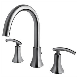 Ultra Faucets - Ultra Faucets UF65100 Two-Handle Tub Faucet - Two-handle design for precise temperature adjustment