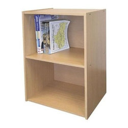 ORE International - 2-Tier Storage Bookcase w Adjustable Shelf in - 2 Level bookshelf. Scratch resistant surface. Adjustable shelf. Simple and modern . Minimalist and utilitarian style. Made from MDF. 16.5 in. W x 12 in. D x 24 in. H (17 lbs.)Perfect for filling a corner or small space, or as a nightstand. This bookcase will be a versatile addition to any decor. Perfect in an office, children's room, study or den.