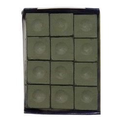 Sterling Gaming - Silver Cup Billiard Chalk Cubes in Olive - 12 - Includes 12-pieces of cup chalk. Chalks matching cloth colors. Made in Macon, GeorgiaSilver Cup Chalk is, in our opinion, the best chalk on the market today. Although not as popular as Master, it is only a matter of time before people realize they can get a better chalk for less money! Made by some of the finest people you will ever meet. We suggest matching your chalk color to your cloth color to keep it looking cleaner longer.