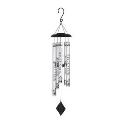 Carson 40 in. Solar Sonnets Wind Chime - Welcome - The Carson 40 in. Solar Sonnets Wind Chime - Welcome is a nice greeting to all who visit your home. The solar wind chime features all-aluminum construction with durable powder coating and silver anodized finish. Each tube reads, WELCOME delighted you're here. The adjustable striker varies the tonal range as you wish. Dimensions: 1.25W x 40H inches.About Carson Home AccentsOriginally founded as the Carson Casting Company in 1970 by Harry Carson, Sr., today Carson Home Accents is a wholesale manufacturer and distributor of a wide range of gifts, garden accents, and home decor. Operated by three generations of the Carson family, the company continues to craft traditional merchandise made of Statesmetal™, an aluminum alloy resembling pewter that goes through the time-honored process of sand casting to create one-of-a kind accents that won't chip, crack, or break. Located in southwestern Pennsylvania, Carson Home Accents is a recognized leader in the industry, designing creative garden decor, wind chimes, candle accessories, inspirational goods, and custom cast metal products.Please note this product does not ship to Pennsylvania.