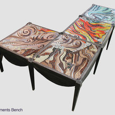 Contemporary Indoor Benches by Patrizia Mosaic Artist