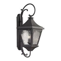 Elk Lighting - Forged Manor 3-Light Outdoor Sconce in Charcoal - Forged Manor collection 3 light outdoor sconce in charcoal