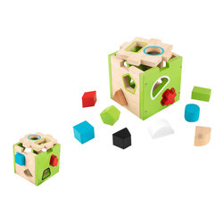 Kidkraft - KidKraft Shape Sorting Cube - Kidkraft - Games - 63247 - Our Shape Sorting Cube lets young boys and girls develop shape recognition color recognition and hand-eye coordination all while having lots of fun. Seeing the look on a child's face when they get the shape into the right hole for the first time is a memory you'll cherish forever. This item includes 10 blocks all in different shapes and colors. No assembly required.