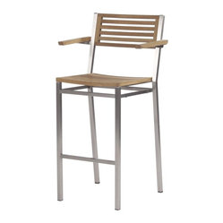 Barlow Tyrie - Equinox High Dining Carver Chair - Teak Seat