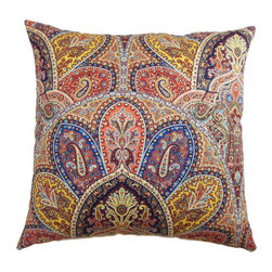 The Pillow Collection - La Ceiba Paisley Pillow Blue Multi-Colored - - Comes standard at 18 x 18  - Reversible pillow with same fabric on both sides  - Includes a hidden zipper for easy cover removal and cleaning  - Comes standard with a down pillow insert  - All four sides have a clean knife-edge finish  - Pillow insert is 19 x 19 to ensure a tight and generous fit  - Cover and insert made in the USA  - Spot cleaning recommended  - Fill Material: Down  - Pillow cover made of Cotton The Pillow Collection - P18-42255-BLUEMULTI-C95L5