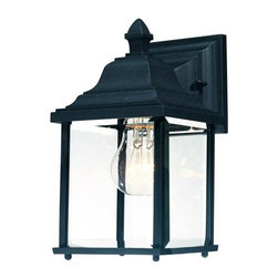 Dolan Designs - Charleston Black Medium One-Light Outdoor Wall Light - -Beveled Glass Dolan Designs - 931-50