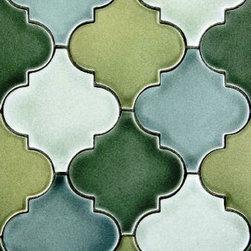 Arabesque - Arabesque glazed tiles available in over 200 glazes from matte white to metallic blue. Depending on glaze can be used on both floor and wall applications.