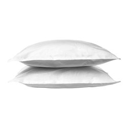 Parachute - Parachute Sateen Shams, White, Standard - Ultra soft and smooth to the touch, Parachute's sateen shams are elegant without being overstated. Featruing their signature back envelope closure, Parachute's shams have a half-inch border to add a simple, yet decorative touch.