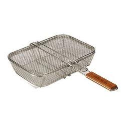 Bull BBQ - Stainless Wire Mesh Shaker Basket with Lid - Stainless Wire Mesh Shaker Basket with Lid