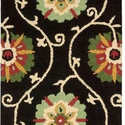 """Nourison - Nourison Accent Rug: Suzani Black 2' 6"""" x 4' - Shop for Flooring at The Home Depot. Add a breath of fresh air to any interior with these colorful and magnificently textured rugs. Hand tufted from 100% wool, this collection features a cut and loop pile and bright floral-themed patterns. Let your room bloom throughout the year and inspire conversation when you add a Suzani rug."""