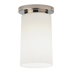 Robert Abbey Lighting - Robert Abbey Rico Espinet Nina Flush Mount in Polished Nickel - Direct Wire Only.  Polished Nickel over Metal withFrosted White Cased Glass Shade.