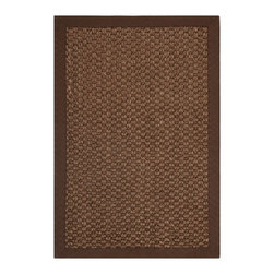 Safavieh - Safavieh Natural Fiber Chocolate Sisal Sea Grass Rug (2' x 3') - This handsome sisal geometric rug provides a stately addition to any room or floor plan. Hand-woven from from natural fibers and featuring a timeless chocolate color scheme,this rug offers a stylish way to complement a range of decorative themes.