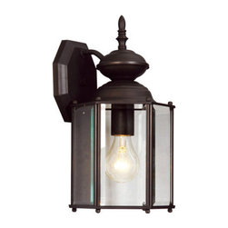 Livex Lighting - Livex Lighting 2007 1 Light 100W Outdoor Wall Sconce - 1 Light 100W Outdoor Wall Sconce with Medium Bulb Base and Clear Beveled Glass from Outdoor Basics SeriesProduct Features: