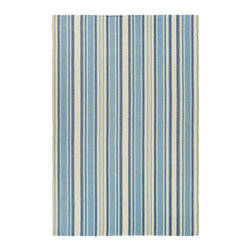 "Couristan - Bar Harbor Lagoon Rug - 06860075, Size: 2'3"" x 8'0"" Runner - For a relaxed-casual look that instantly creates an atmosphere of welcoming fun, the Bar Harbor Collection delivers a cheery array of striped designs that infuse any interior with a refreshing verve. Perfect for homes with a coastal living design influence, these bright and bold fashions add an exciting pop of color that enlivens spaces and brings a sense of charm. With whimsical names, like Lillipop, Lemon Drop and Gelato, decorators are sure to find a sweet spot for all seventeen Bar Harbor colorways. Flatwoven of soft 100% cotton, Bar Harbor area rugs are both reversible and machine-washable, making them an ideal selection for busy areas of the home such as kitchens, dining areas and even kid's rooms. Hand-woven with all-natural materials, these biodegradable area rugs also have an eco-chic appeal and can be incorporated into homes with a 'green' theme. Featuring a high-quality construction, the Bar Harbor Collection is crafted with a heavy weight to ensure that the area rugs lie flat and do not curl at the ends."