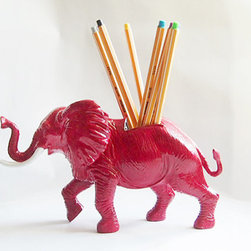 Jumbo Elephant Pencil Holder by Gets Me Every Time - What a fun place for pencils!