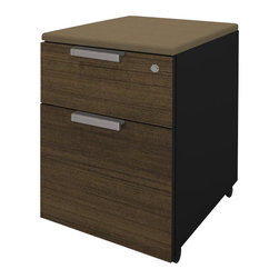 Bestar - Bestar Pro-Concept Assembled Pedestal in in Black and Milk Chocolate - Bestar - Filing Cabinets - 1106401198 - This commercial collection offers numerous configuration possibilities to customize your work environment. The compact desk dimensions will facilitate your layout while preserving efficiency and well-being.
