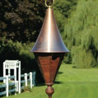 Heartwood - Jennie Lynn Bird House Mahogany - This  beautiful  birdhouse  is  the  perfect  addition  to  any  home  or  garden  of  your  choice.  This  octagonal  beauty  puts  elegance  center  stage  with  a  turned  finial,  brass  top  ring  and  spun  solid  copper  roof.  The  roof  also  removes  for  effortless  cleaning  and  more  enjoyment.  This  bird  house  is  one  you  are  sure  to  enjoy  in  the  years  to  come.  Available  in  several  colors.                  9x23              1-3/8  hole              Available  in  white  and  solid  mahogany              Handcrafted  in  USA  from  renewable,  FSC  certified  wood