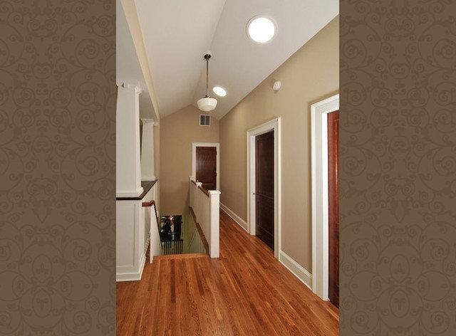 White Trim Wood Door