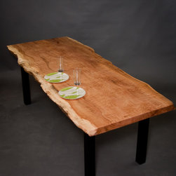 Figured Reclaimed Maple Dining Table - Reclaimed Figured/Quilted Maple Dining Table