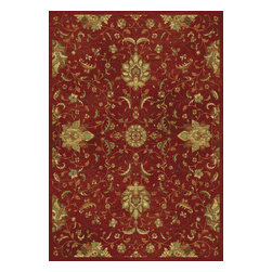 """Versailles 8540 Red Mahal Rug - Versailles 8540 Red Mahal 2'2"""" x 3'7"""". Machine-Loomed of 100% Viscose with No Backing. Made in Belgium. Vacuum regularly & spot clean stains. Professional cleaning recommended periodically."""