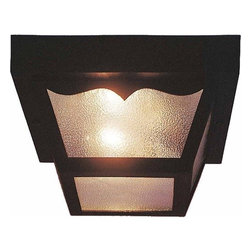 Volume Lighting - Volume Lighting V9762 2 Light Flush Mount Outdoor Ceiling Fixture with Clear Tex - Two Light Flush Mount Outdoor Ceiling Fixture with Clear Textured Glass ShadeLovely and ideal, this 2 light flush mount outdoor ceiling fixture features delightful clear textured glass.Features: