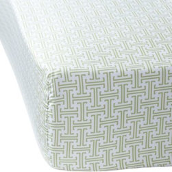 Serena & Lily - Grass Trellis Crib Sheet - One of our most popular patterns, this green and white modern trellis motif would work with any accent color and mixes beautifully with large scale prints, polka dots and solids. We recommend getting an extra sheet to have on hand for easy changing and washing.