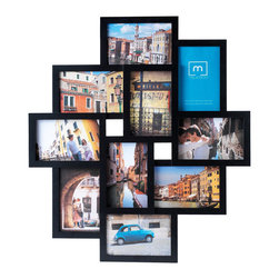 Melannco - Melannco 10-opening Black Collage Photo Frame - This Melannco collage frame is a fun way to display your photos in a grouped fashion for a sstylish look. The frame can be hung vertically or horizontally for a unique display. Finished in a modern black, this frame is the perfect accent to any room.