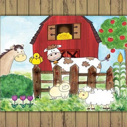 Oh How Cute Kids by Serena Bowman - Howdy Yaw with Wood Border, Ready To Hang Canvas Kid's Wall Decor, 11 X 14 - Every kid is unique and special in their own way so why shouldn't their wall decor be so as well! With our extensive selection of canvas wall art for kids, from princesses to spaceships and cowboys to travel girls, we'll help you find that perfect piece for your special one.  Or fill the entire room with our imaginative art, every canvas is part of a coordinating series, an easy way to provide a complete and unified look for any room.