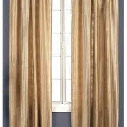 Softline Cosmo Stripe Window Curtain Panel - Available in your choice of colors to suit any decor, the Softline Cosmo Stripe Window Curtain Panel has a durable 100% polyester construction. It comes in your choice of length, and features 3-inch rod pockets.