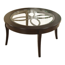 Riverside Furniture - Riverside Furniture Annandale Round Cocktail Table in Dark Mahogany - Riverside Furniture - Coffee Tables - 12403 - The Arkansas River Valley is home of majestic forests ruggedly beautiful mountains gurgling brooks and swiftly flowing rivers. It is also the home of Riverside Furniture Corporation. But like they would with any old friend most folks refer to us just by our first name. Riverside has been growing with America for more than half a century now and since then Riverside has been a name three generations of Americans who have furnished their homes and offices with our wide range of furniture products. We want the Riverside name to be trusted for quality products that are an affordable value. It's just that simple.
