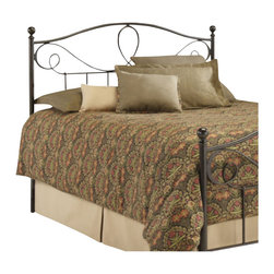 Fashion Bed - Fashion Bed Sylvania Metal Poster Headboard in French Roast-Full - Fashion Bed - Headboards - B12774 - This simple and elegant headboard features a beautiful arched design, reminiscent of subtly curved flower petals, and delicately shaped posts with rounded finials. The Sylvania headboard is made entirely from durable metal materials and finished in a warm French Roast that is sure to enhance any bedroom with style and elegance.
