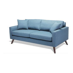 Dane Love Seat Sofa, Sea Blue