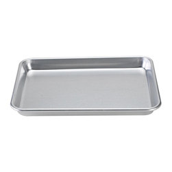 Nordic Ware - Nordic Ware Natural Bakeware Aluminum 13 x 9 in. Bakers Quarter Sheet Baking Pan - Shop for Bakeware from Hayneedle.com! Bake delectable gooey brownies to share with your closest friends using the handy commercial-grade Nordic Ware 45300 Natural Bakeware Aluminum 13 x 9 in. Bakers Quarter Sheet Baking Pan. Everyone will want a taste of your homemade brownies once the smell of warm chocolate wafts throughout your house. This heavy-duty aluminum pan has excellent heat conductivity so all of your much-loved baked goods bake and brown evenly every time. Snap on the lid and take your treats with you anywhere you go to share them and inevitably to help you make new friends! This traditional uncoated baking pan is big enough for large batches to feed those masses of hungry friends you've got.Additional InformationHand-wash onlyPerfect for brownies bars and small sheet cakesGalvanized steel reinforcement around edges prevents warpingMade in the USAAbout Nordic Ware.Founded in 1946 Nordic Ware is a family-owned American manufacturer of kitchenware products. From its home office in Minneapolis Minn. Nordic Ware markets an extensive line of quality cookware bakeware microwave and barbecue products. An innovative manufacturer and marketer Nordic Ware is best known for its Bundt Pan. Today there are nearly 60 million Bundt pans in kitchens across America.The Nordic Ware name is associated with the quality dependability and value recognized by millions of homemakers. The company's extensive finishing technology and history of quality innovation and consistency in this highly technical and specialized area makes it a true leader in the industrial coatings industry.Since founding Nordic Ware in 1946 the company has prided itself on providing long-lasting quality products that will be handed down through generations. Its business is firmly rooted in the trust dedication and talent of its employees a commitment to using quality materials and construction a desire to provide excellence in service to customers and never-ending research of consumer needs.