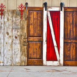 Rustica Hardware - Barn Doors - A Solid Alder Barn Door Kit on it's own