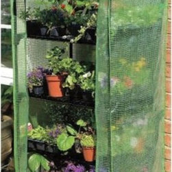 "Gardman USA - 4 Tier Growhouse With Cover - 4 Tier Mini Greenhouse with heavy duty cover is 5' 3"" high x 2' 3"" wide x 1' 6"" deep.  This item cannot be shipped to APO/FPO addresses. Please accept our apologies."