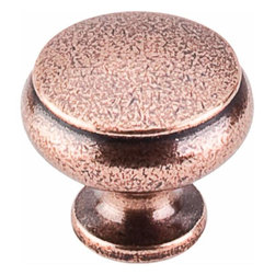 Top Knobs - Top Knobs: Cumberland Knob 1 1/4 Inch - Old English Copper - Top Knobs: Cumberland Knob 1 1/4 Inch - Old English Copper