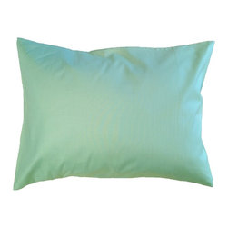 "A Little Pillow Company - A Little Pillow Company: Toddler Pillowcase (Envelope Style), Green - Wrap ""A Little Pillow Company"" pillow in only the best!  This green envelope-style toddler pillowcase is Made in the USA from a 100% soft cotton fabric."