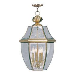 Livex Lighting - Livex Lighting 2357-01 Monterey Outdoor Pendant Antique Brass - -Finish: Antique Brass