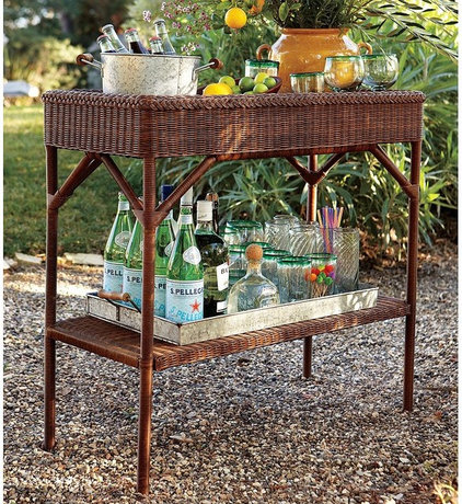 outdoor tables All-Weather Wicker Bar from Pottery Barn
