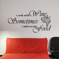 StickONmania - Wine Lovers Sticker - An interesting quote with stylish lettering for your wall. Decorate your home with original vinyl decals made to order in our shop located in the USA. We only use the best equipment and materials to guarantee the everlasting quality of each vinyl sticker. Our original wall art design stickers are easy to apply on most flat surfaces, including slightly textured walls, windows, mirrors, or any smooth surface. Some wall decals may come in multiple pieces due to the size of the design, different sizes of most of our vinyl stickers are available, please message us for a quote. Interior wall decor stickers come with a MATTE finish that is easier to remove from painted surfaces but Exterior stickers for cars,  bathrooms and refrigerators come with a stickier GLOSSY finish that can also be used for exterior purposes. We DO NOT recommend using glossy finish stickers on walls. All of our Vinyl wall decals are removable but not re-positionable, simply peel and stick, no glue or chemicals needed. Our decals always come with instructions and if you order from Houzz we will always add a small thank you gift.