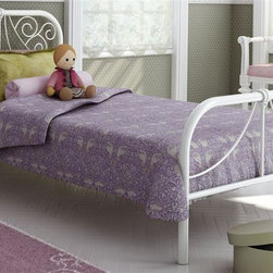 Amisco - Ballerina Twin Bed in White - Elegant curves. Snow metal frame. 78.25 in. L x 40.25 in. W x 36.13 in. H (64 lbs.)Coquette, free-spirited, graceful little girls will love the Ballerina bed. Its elegant curves, inspired by the Victorian trend, bring fantasy to the room and match any decor. Ballerina allows kids to fly in their dreams.