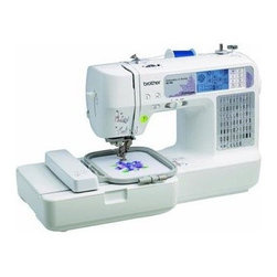 Brother Sewing - Computerized Sewing Embroidery - Brother SE400 Combination Computerized Sewing and Embroidery Machine - Sew  quilt  and embroider. If you can imagine it  you can create it! Enjoy comprehensive sewing functions  plus 4-inch-by-4-inch embroidery capabilities.  Easy-to-view back-lit touch screen LCD display accesses 67 unique sewing stitches and 70 built- in embroidery designs  with 5 lettering fonts.  Computer connectivity for importing thousands of embroidery designs purchased from iBroidery.com and other sites  and for updating your machine in the future.  One-touch automatic thread cutter cuts your top and bobbin thread with ease.  Bilingual user manual  25-year limited warranty  and free phone support for the life of the product.  This item cannot be shipped to APO/FPO addresses. Please accept our apologies.