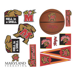 York Wallcoverings - NCAA Maryland Terrapins 25pc College Wall Accent Stickers - Features: