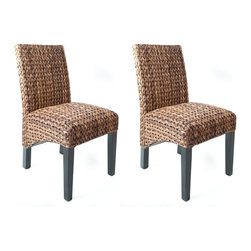 BirdRock Seagrass Side Chairs Set Of 2 Handwoven With High Quality Seagr