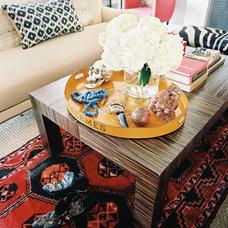 Transitional Living Room by Burnham Design